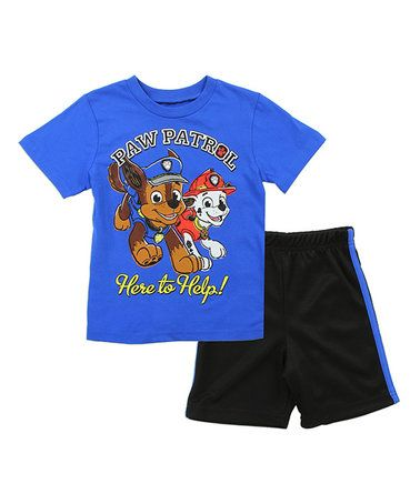 3d0338fea Loving this PAW Patrol Blue   Black Tee   Shorts - Toddler on ...