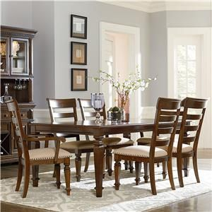 Standard Furniture Charleston 7 Piece Leg Table and Chair Set