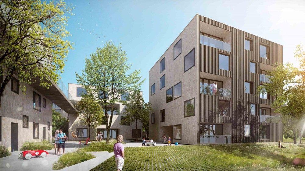 Gallery Of Green City Housing Complex Chybik Kristof Associated Architects 13 Urban Design Architecture Architecture Residential Complex