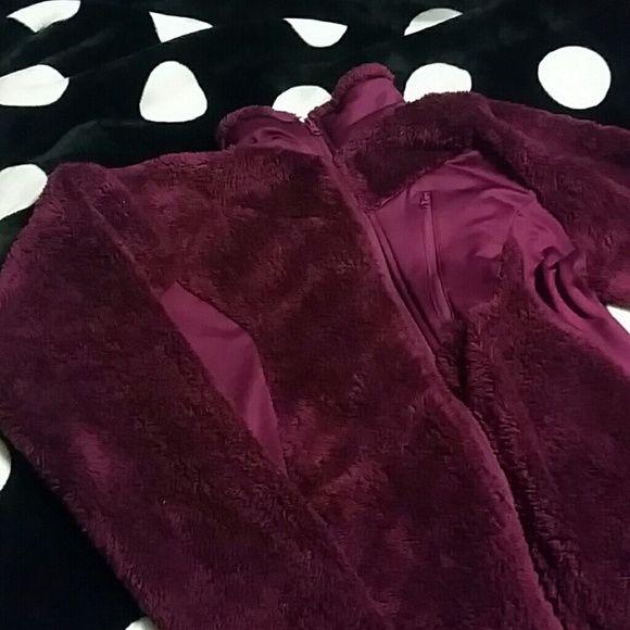 Fuzzy Columbia Cute jacket worn maybe 4 times. Great condition Columbia Tops Sweatshirts & Hoodies
