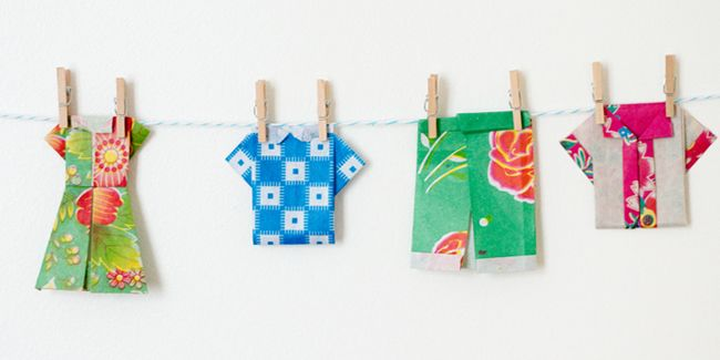 origami varal - Pesquisa Google