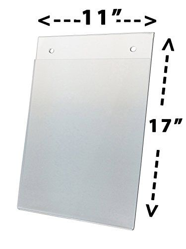 Nudell 11 X 17 Portrait Wall Mount Plastic Sign Holder Clear Acrylic Sign Sign Holder Plastic Signs