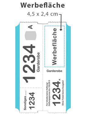 Gastro Werbung Simbeck Garderobenmarken Garderobenticket Garderobennummer Garderobenzettel Ticket Garderobe Zettel