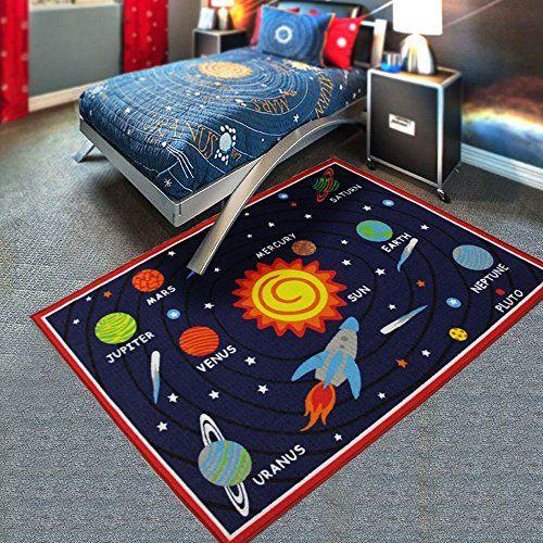 Us Dreambuy Cartoon Planet Sun Cute Kids Room Rug Bedroom Living