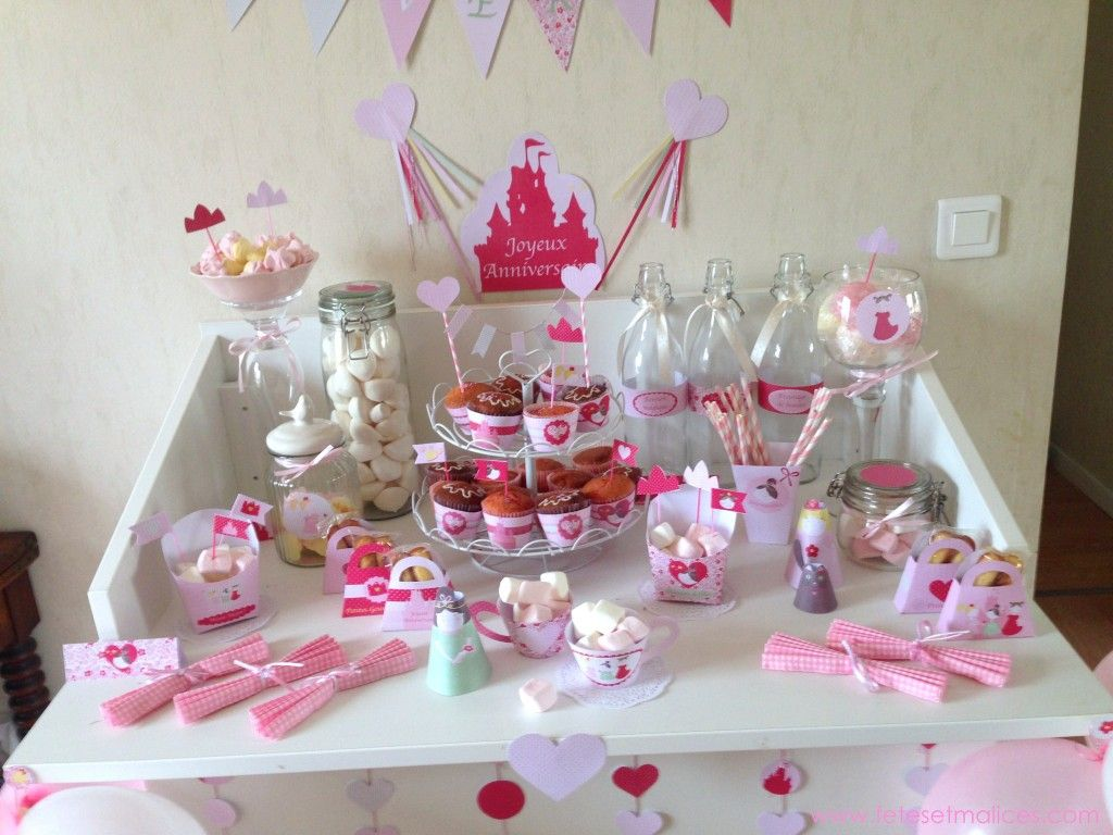 sweet table princess paper | Décoration table anniversaire