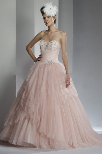 Specials Glamorous Peach Strapless Backless Beaded Wedding Dress China Free Measurement