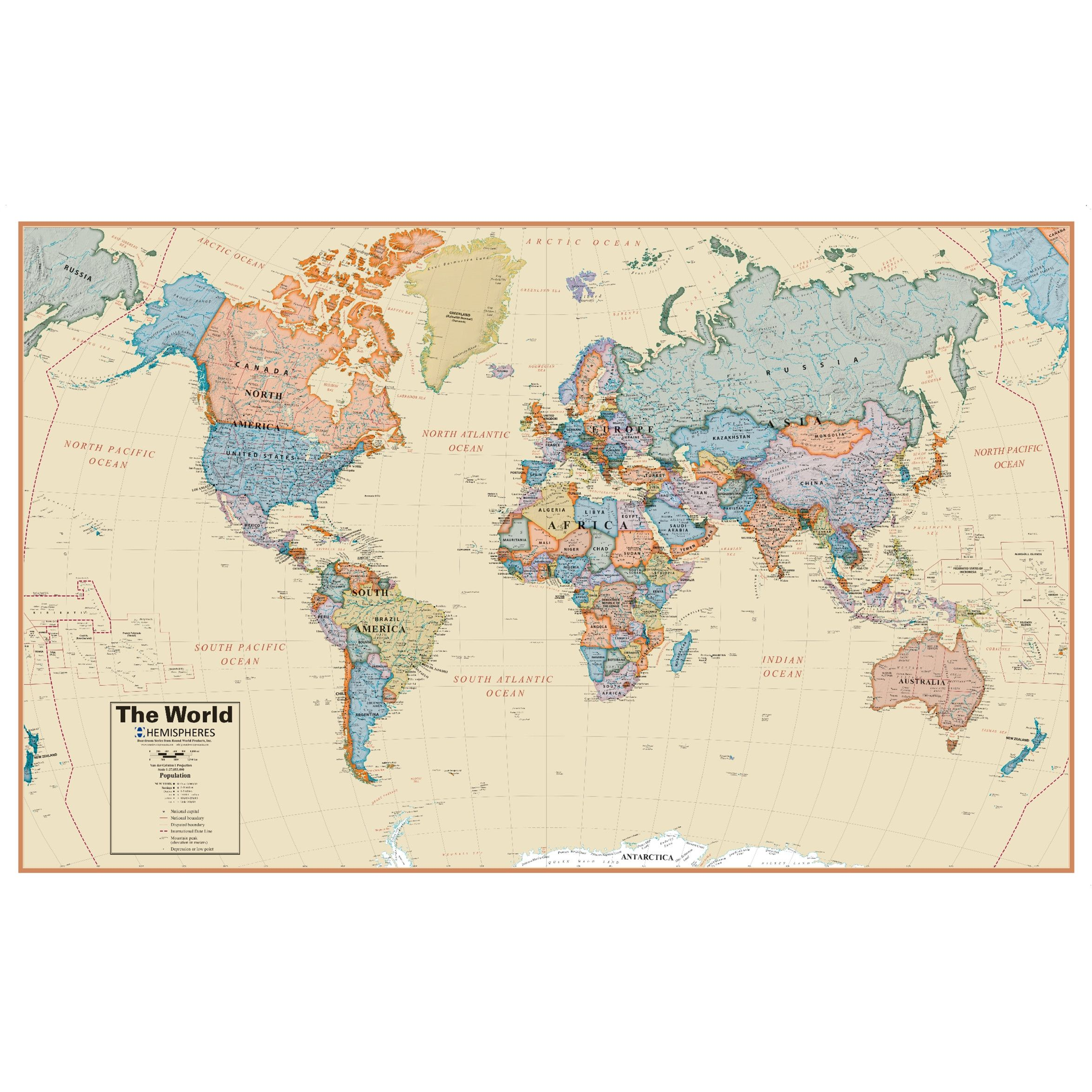 world boardroom 1 27 laminated wall map with images on laminated wall maps id=20648