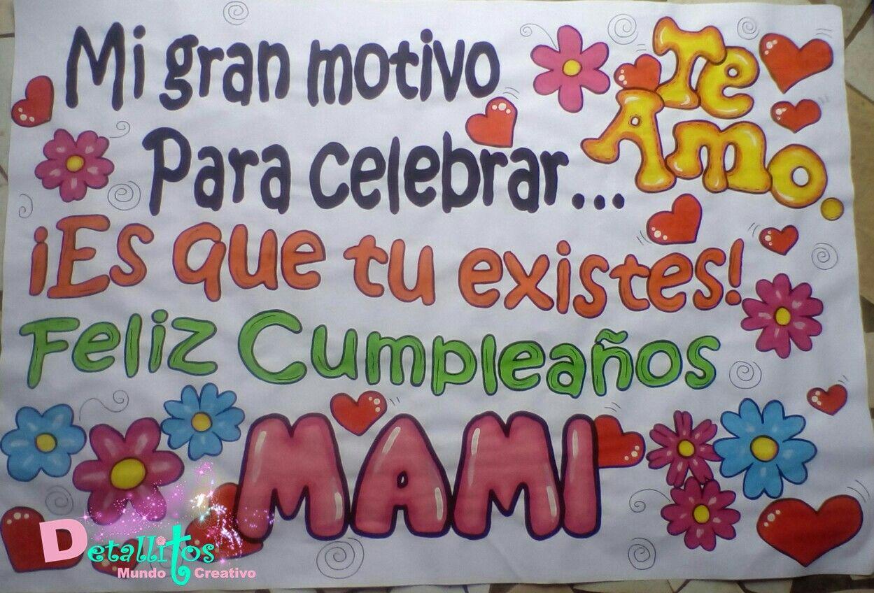 Pancarta de cumpleaños para mama | Pancartas | Pinterest | Pancarta ...