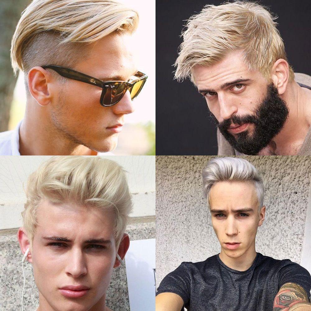 Bleached Hair For Men Short Blonde Haircuts Bleached Hair Mens