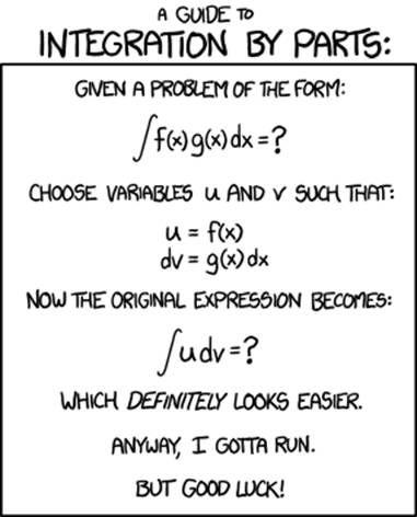 integration by parts | Maths puns and jokes | Math jokes