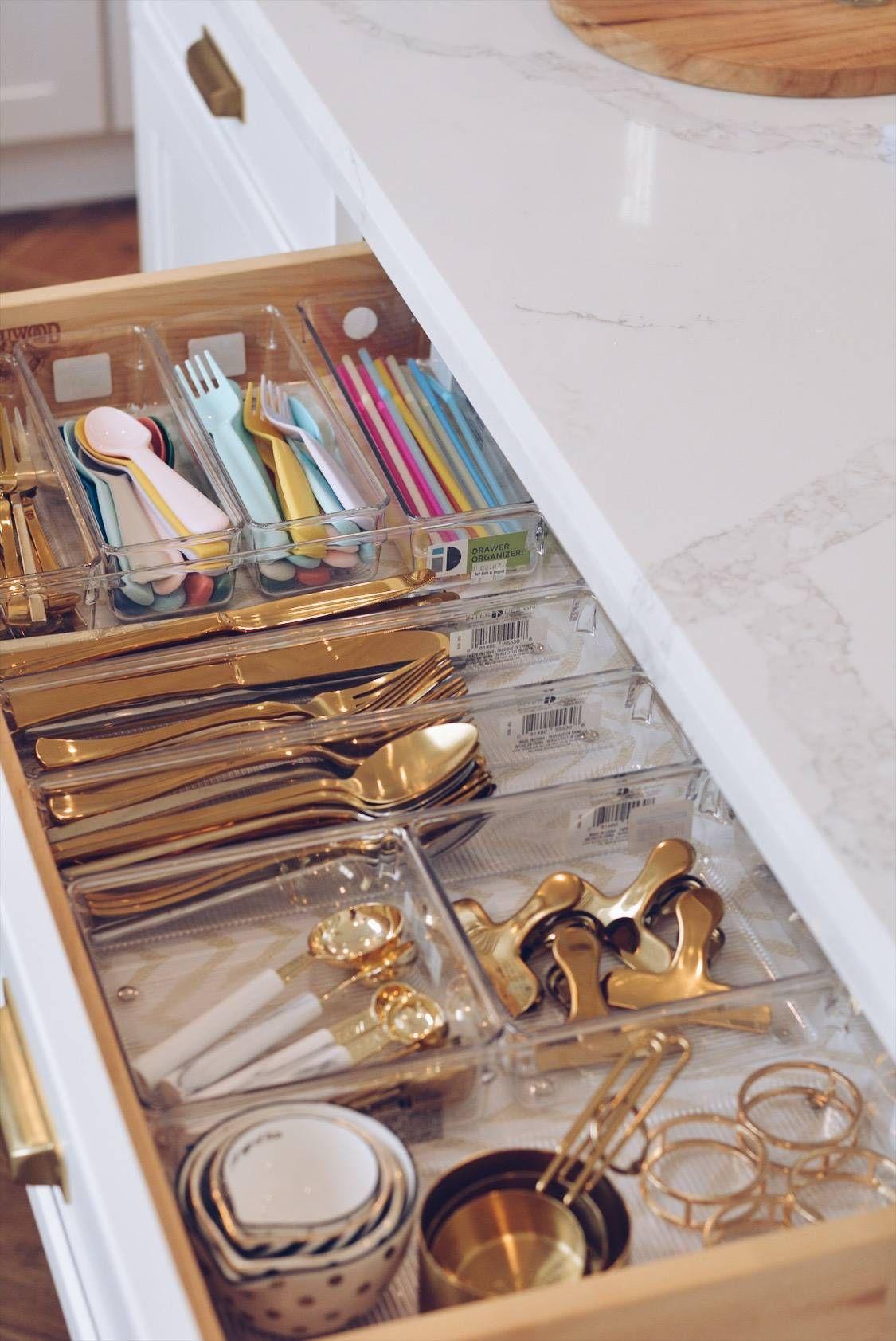 Kitchen Organization How To Organize Your Kitchen Drawers The Pink Dream Kitchen Drawer Organization Small Kitchen Organization Kitchen Drawers Best way to organize kitchen drawers