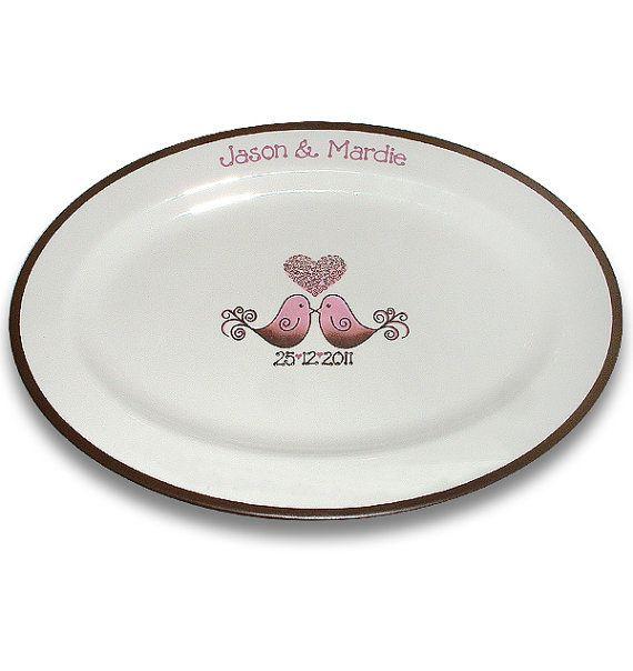 Little Love Birds Wedding Signature Platter by SerendipityCrafts, $75.00