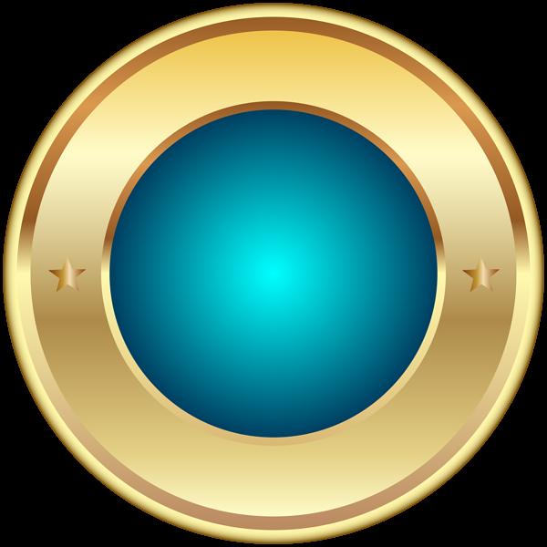 Seal Badge Blue PNG Transparent Clip Art Image Art