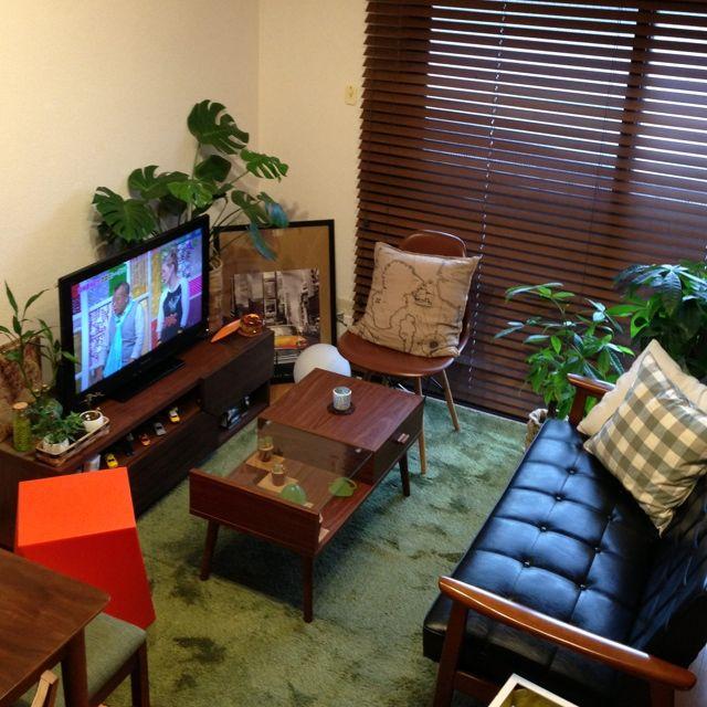 カリモク60 my best roomclip tvボード 植物 メンズ部屋 などの
