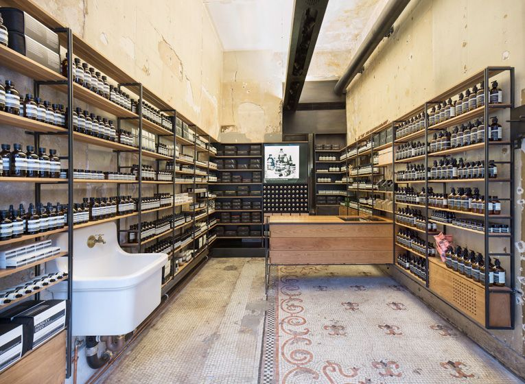 Supernews Aesop Store Retail Architecture Pharmacy Design