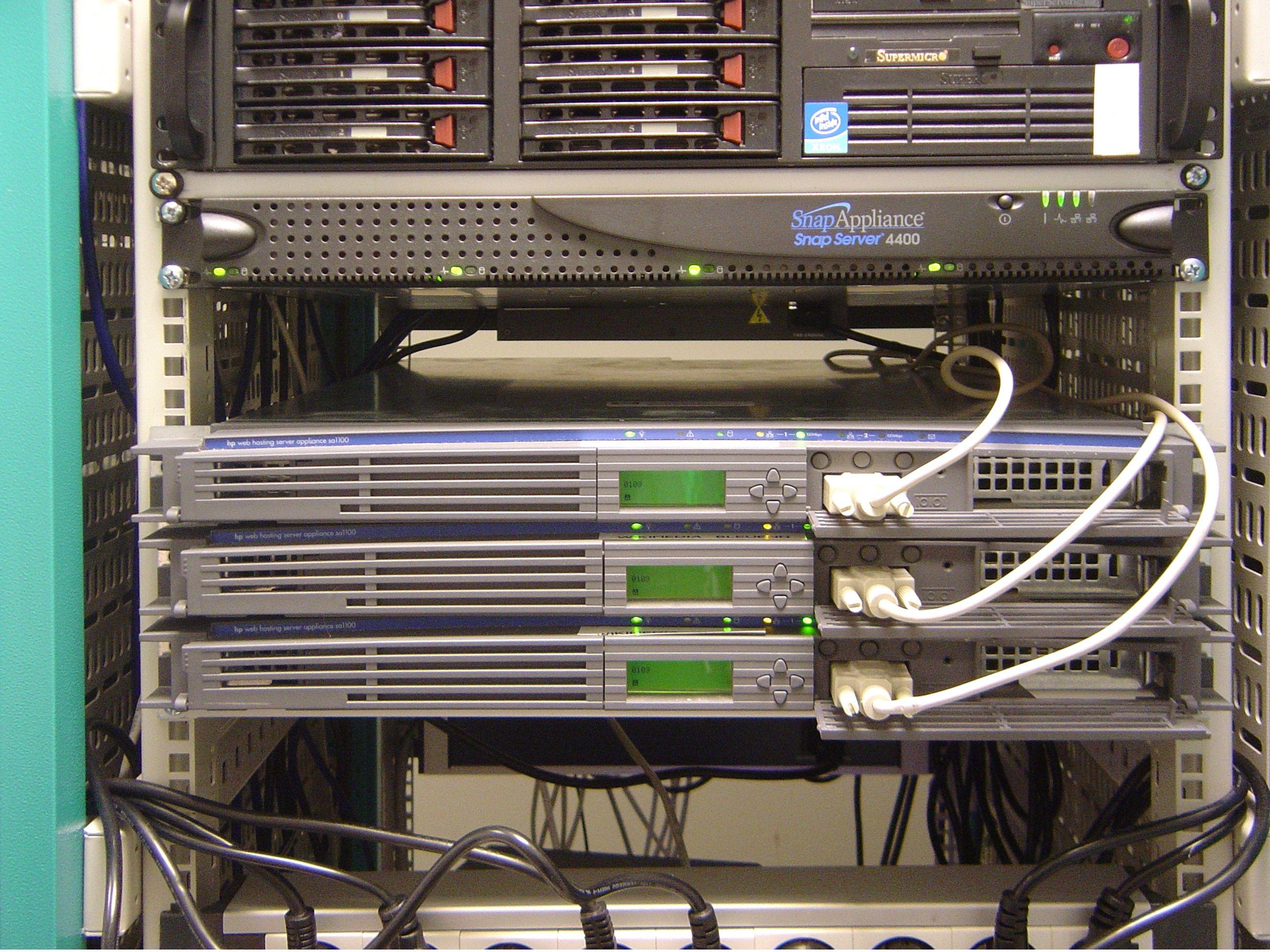 rack mounted servers Web hosting, Builder website