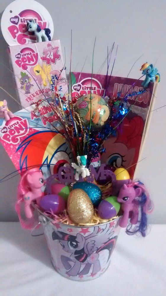 My little pony handmade easter fun gift basket s up to 5 if needed my little pony handmade easter fun gift basket s up to 5 if needed ebay negle Image collections