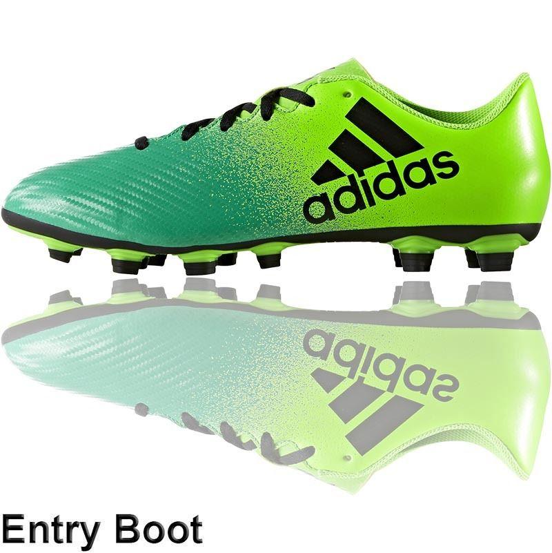finest selection f81fd 581db Football Nation - adidas X16.4 Boots (FxG - Solar GreenCore Green