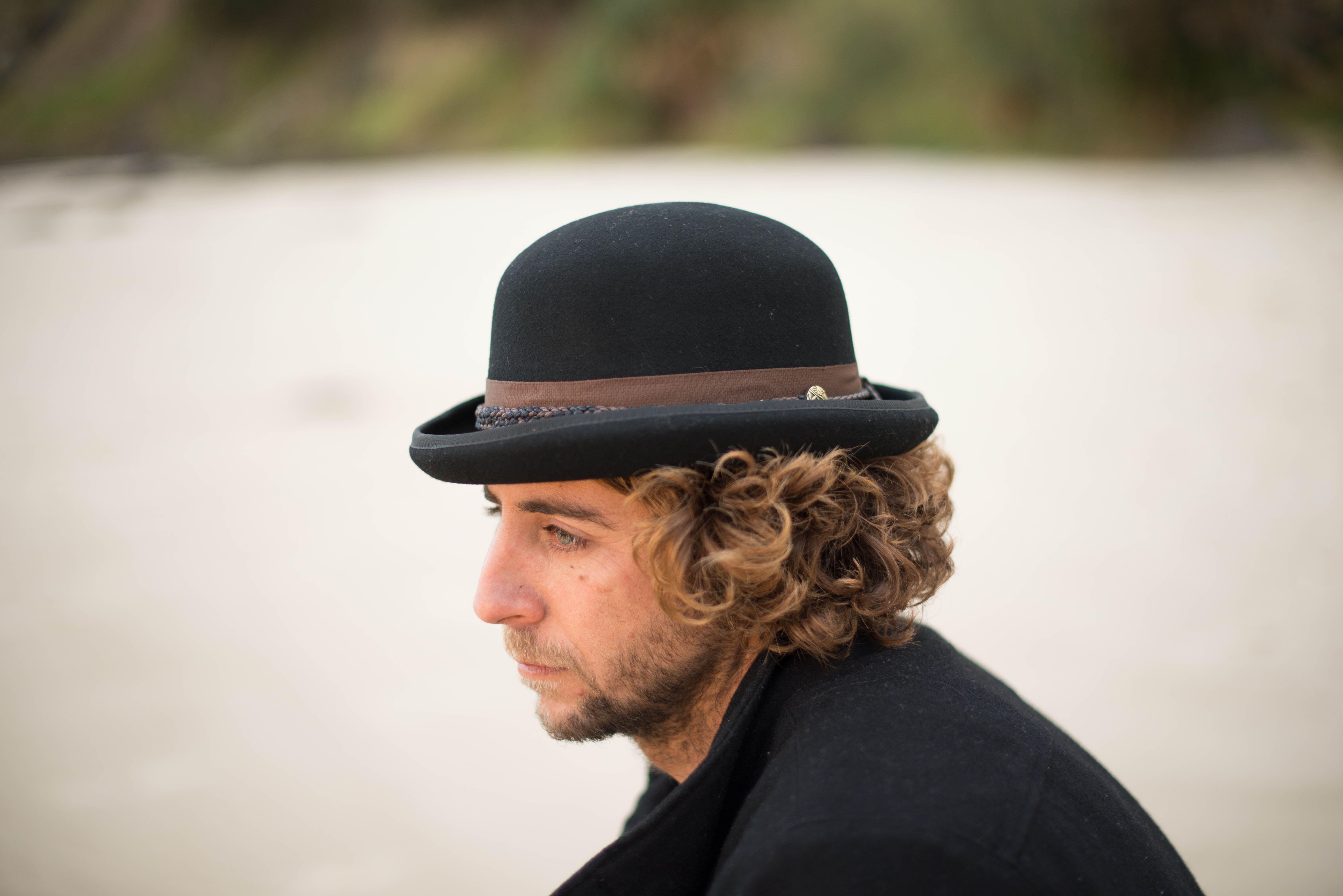 3c891f3b348297 Handmade Australian Wool Bowler hat has 5