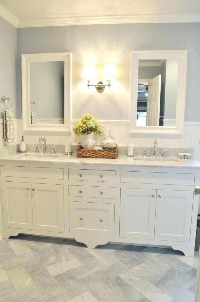 Double Sink Bathroom Decorating Ideas Double Vanity Bathroom Farmhouse Bathroom Vanity Bathrooms Remodel