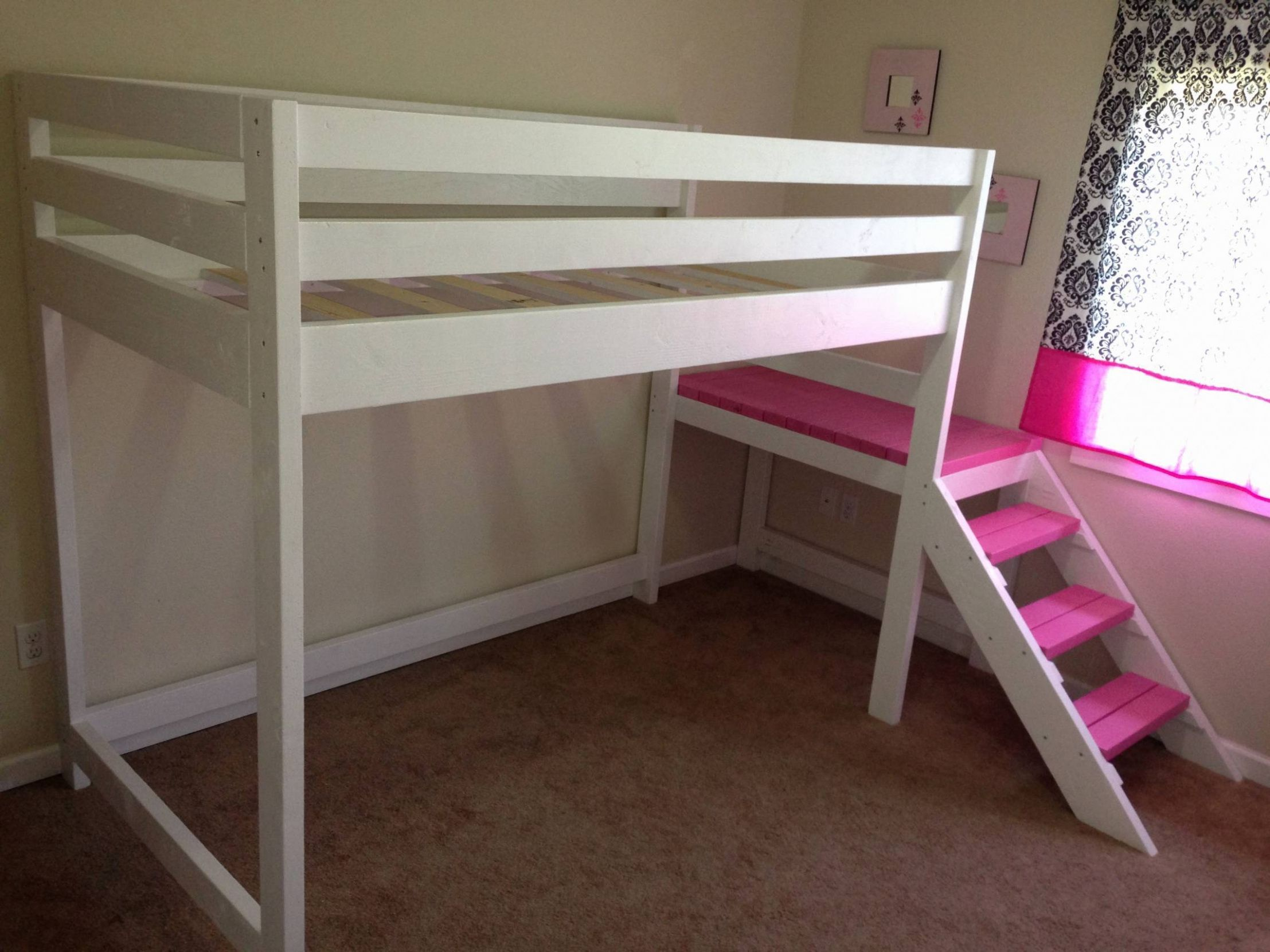 55 Bunk Bed with Slide and Desk Check more at http
