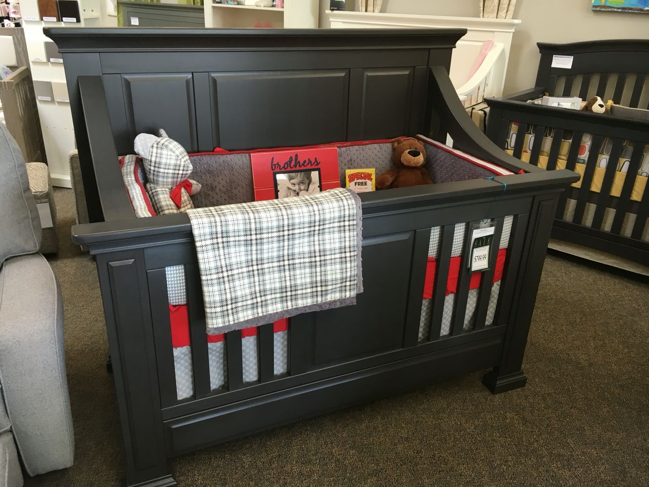 Baby S Dream Nottingham Convertible Crib In Slate Converts To