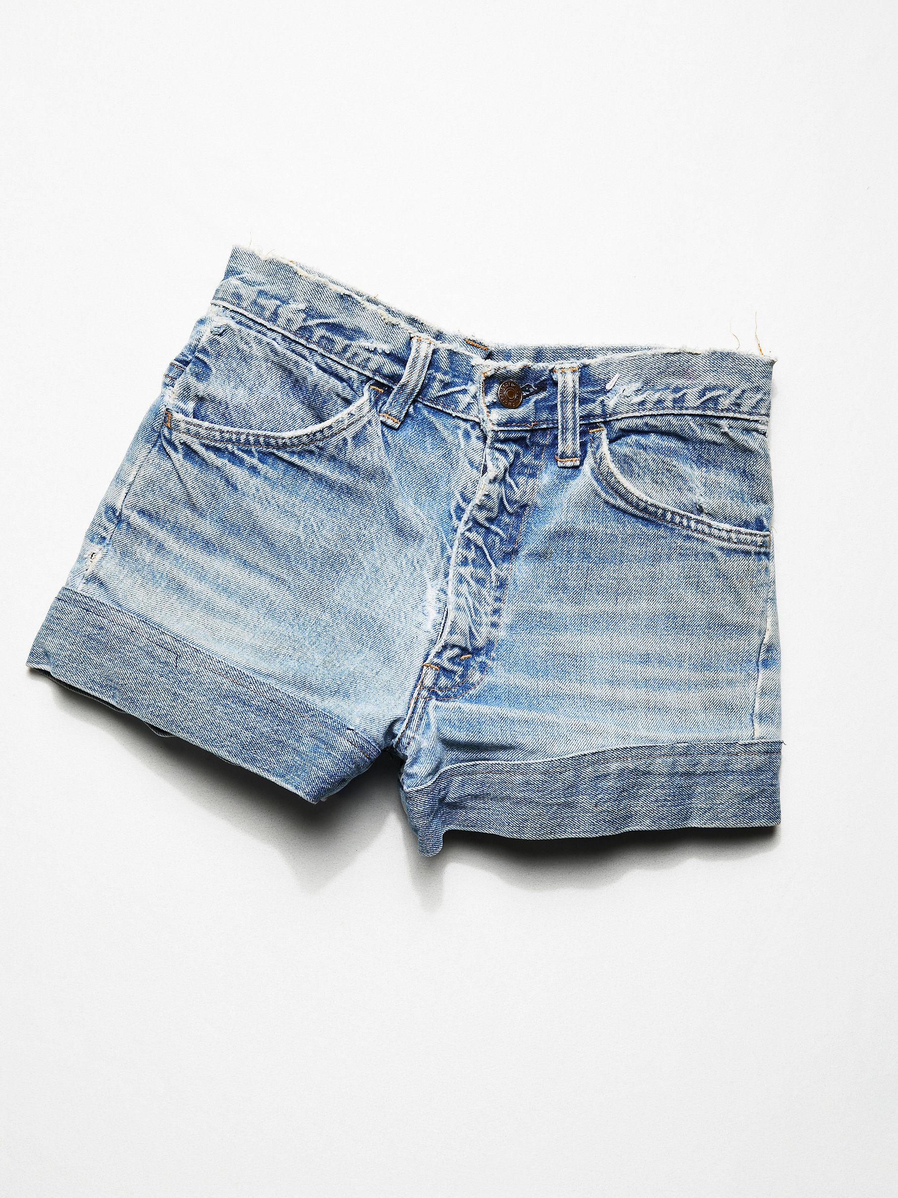 Vintage 1960s Handmade Denim Shorts Vintage denim shorts
