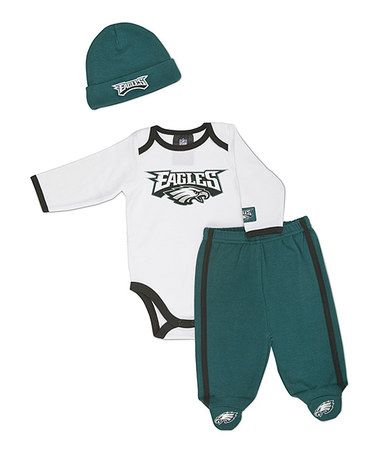 58a624915 Take a look at this White Philadelphia Eagles Footie Pants Set - Infant by  NFL on  zulily today!
