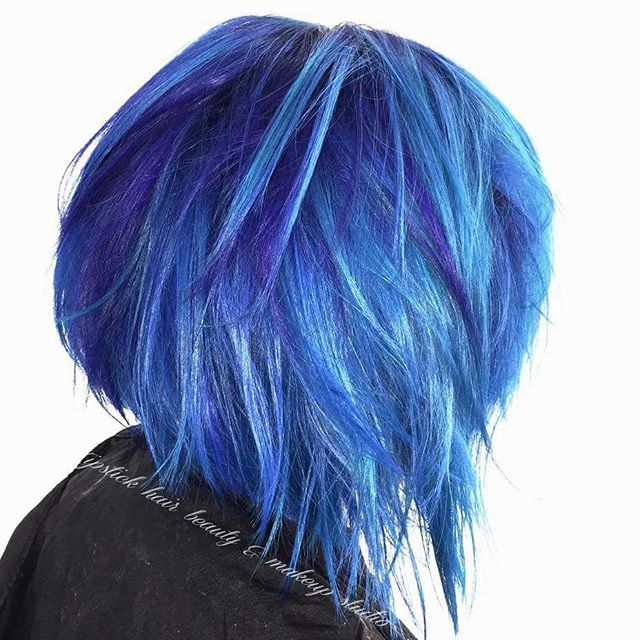 blue hair cobalt wild