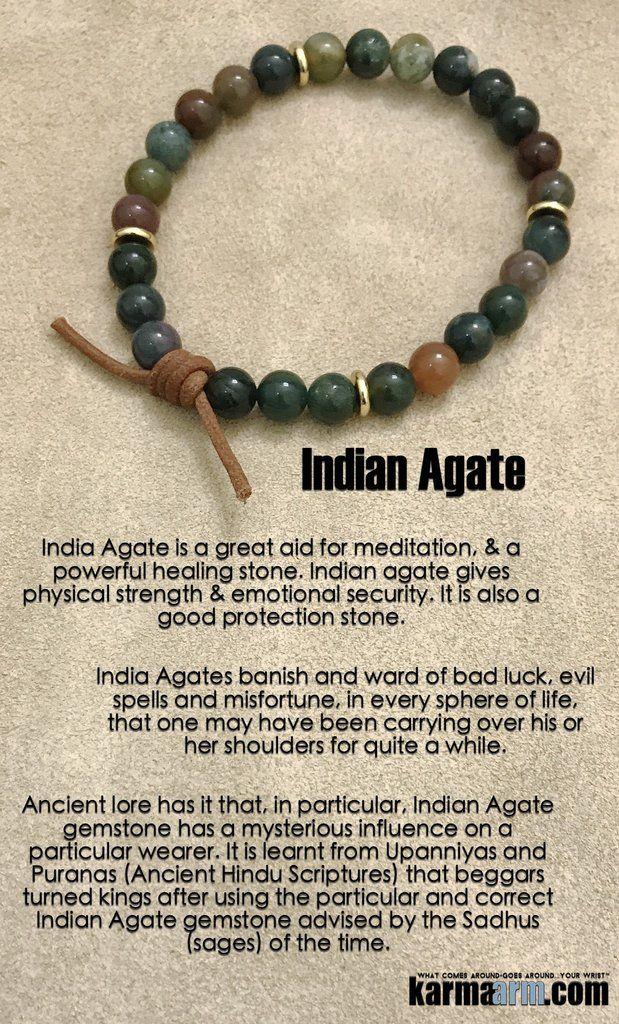Natural Indian Agate Bracelet