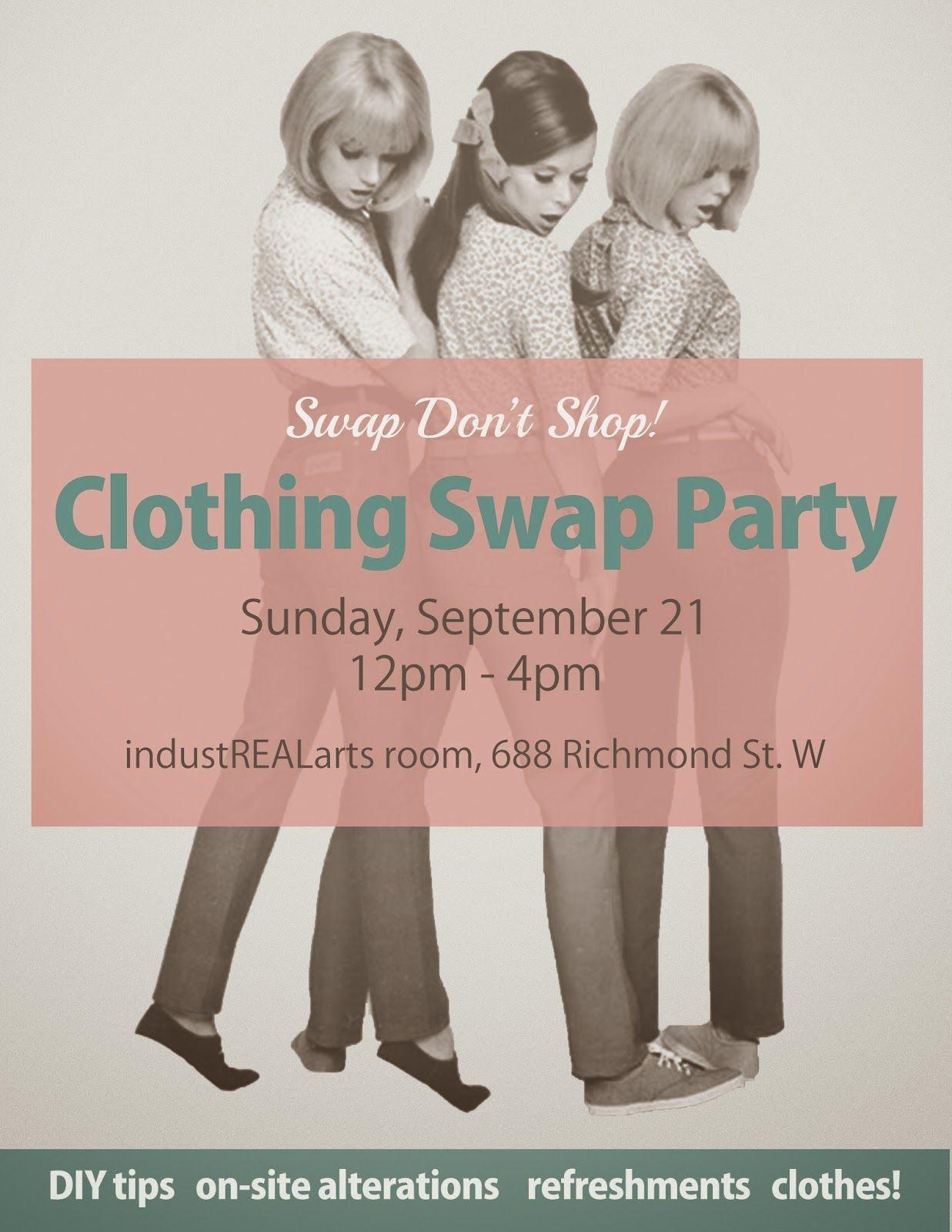 Swap Don\'t Shop! Autumn Clothing Swap Flyer   Eventful Happenings ...