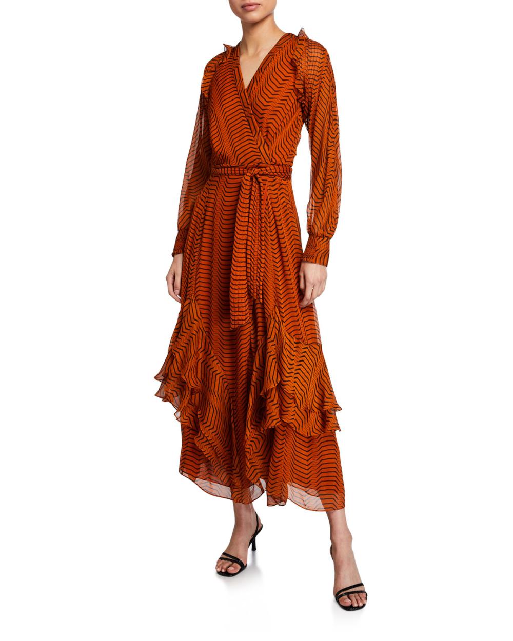 Diane Von Furstenberg Mercy Striped Silk Georgette Long Sleeve Dress Long Sleeve Dress Diane Von Furstenberg Dresses [ 1250 x 1000 Pixel ]