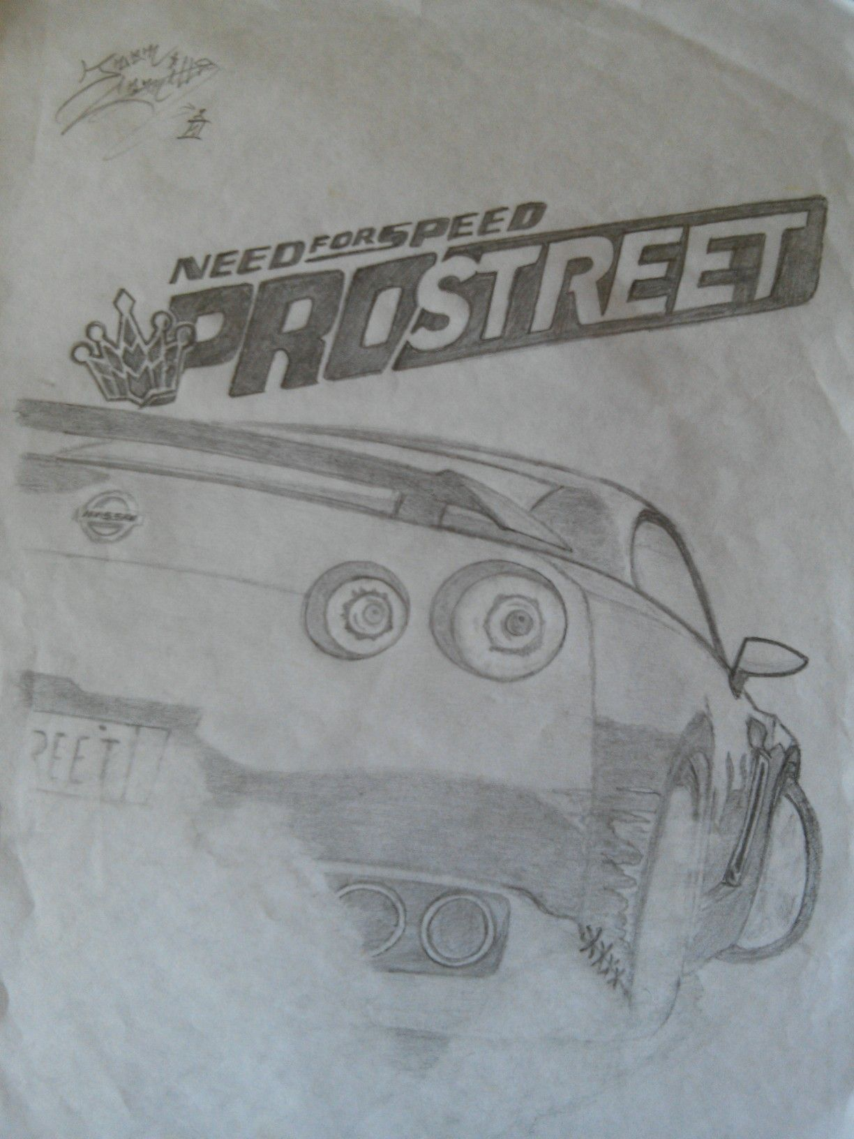 Need For Speed Need For Speed Pro Street Desenho A Lapis Com