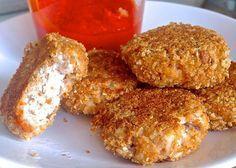 RECETA FITNESS/ Nuggets de pollo sin grasa http://fitfoodmarket.es/receta-fitness-nuggets-de-pollo-sin-grasa/