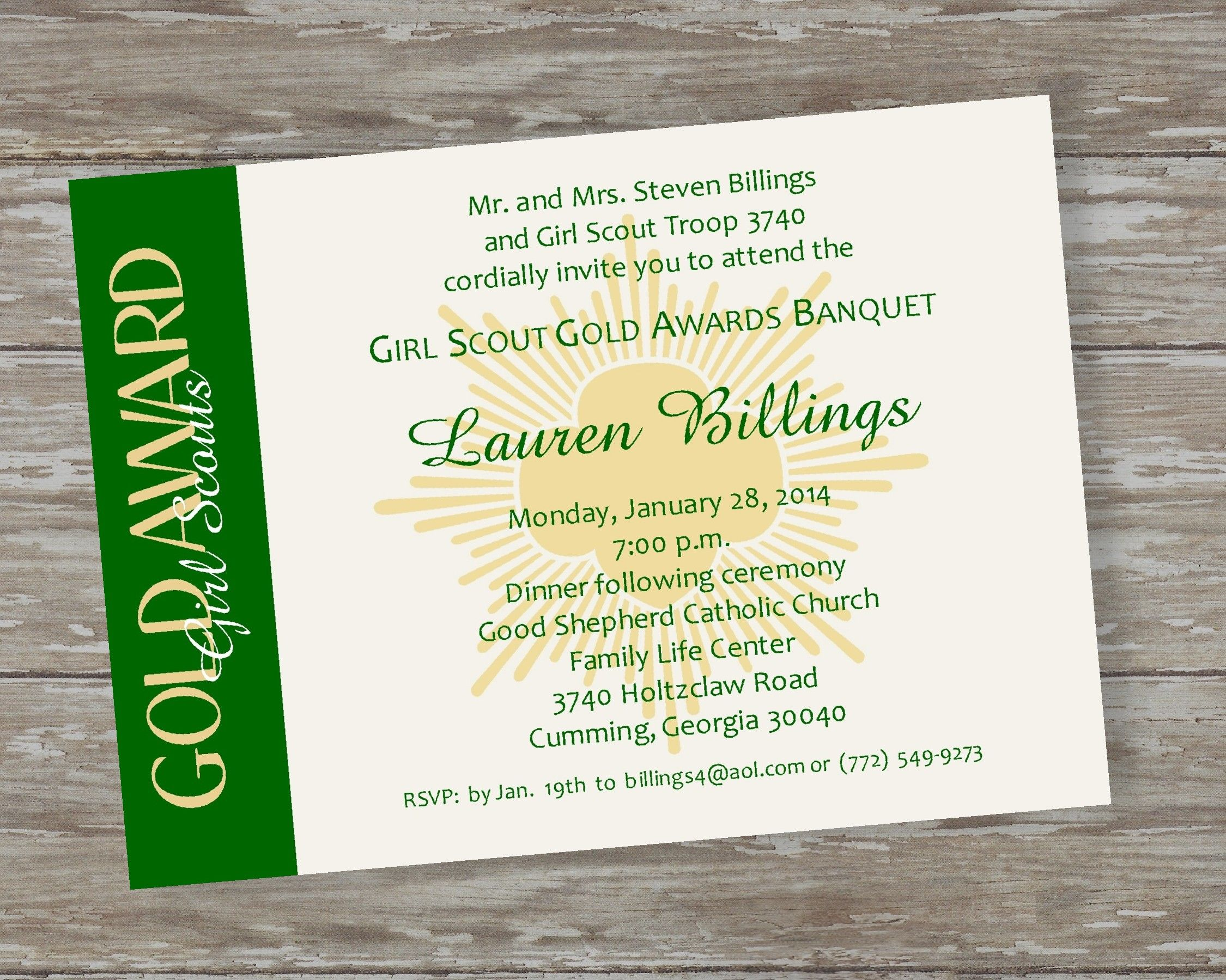 Girl Scout Award Ceremony Invitations Order The Digital File From My Etsy Shop Or Printed Invitation Girl Scout Gold Award Girl Scout Silver Award Girl Scouts