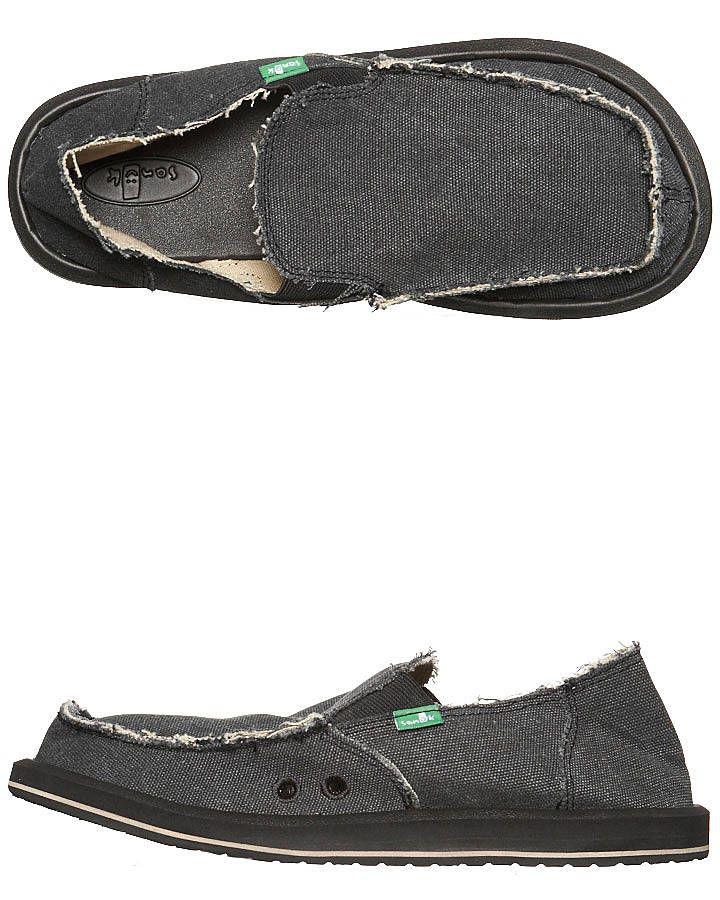 ac389b9a672d Sanuk Mens Vagabond Grey Cotton Slip On Sidewalk Surfer Shoe ...