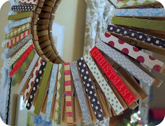 clothspin wreath