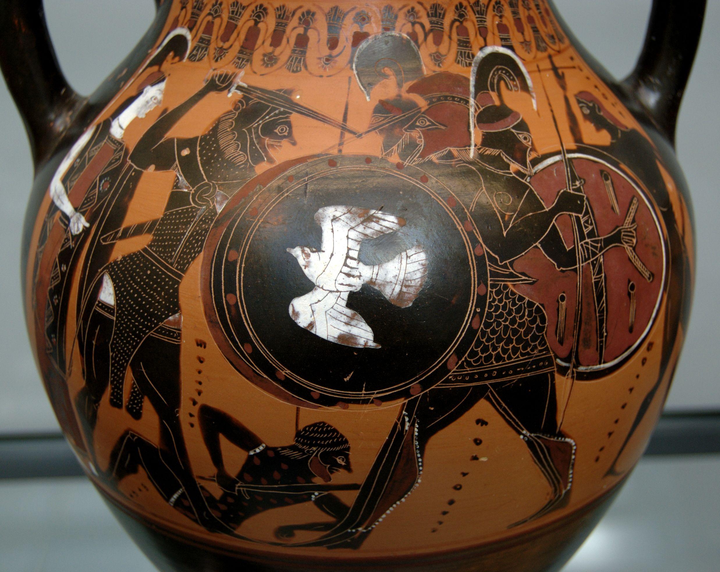 Greek pottery art hercules black figure pottery style greek pottery art hercules black figure pottery floridaeventfo Image collections