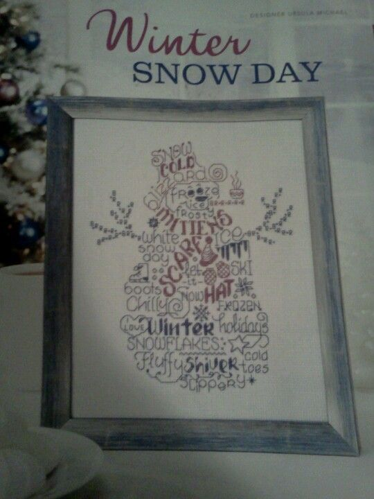 Winter Snow Day pattern by Ursula Michael