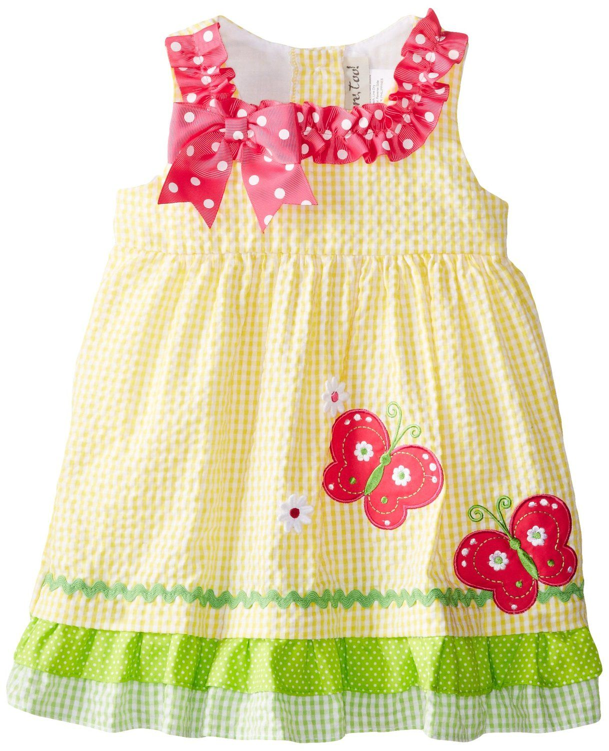 2bc77aaf3 Amazon.com: Rare Editions Baby Baby-Girls Infant Check Seersucker Dress:  Clothing