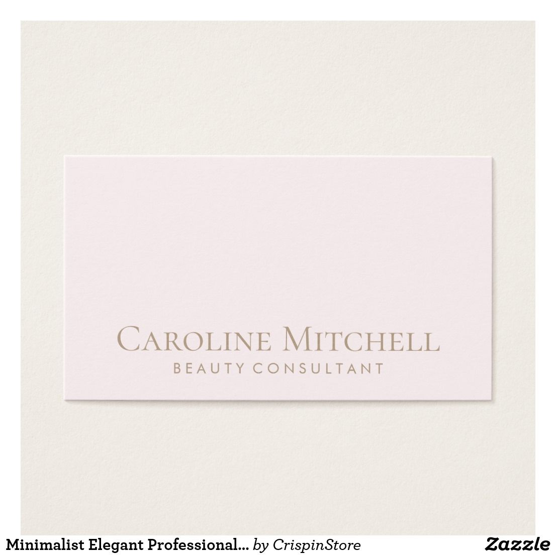 Minimalist elegant professional chic light pink business card minimalist elegant professional chic light pink business card reheart Images
