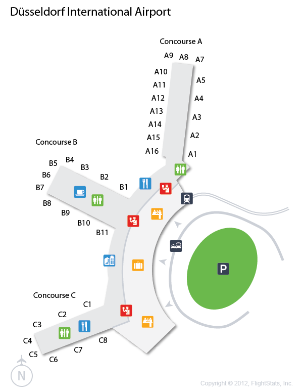 (DUS) Dusseldorf International Airport Terminal Map