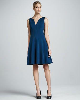 T Tahari Alexina Fit-and-Flare Dress - Neiman Marcus