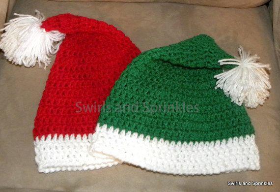 Crochet Santa Hat by SwirlsandSprinkles on Etsy, $12.99