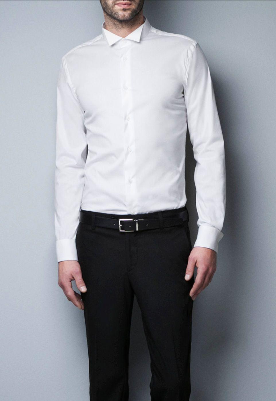 Zara Men Tuxedo shirt - mix with casual jumper | How to ...