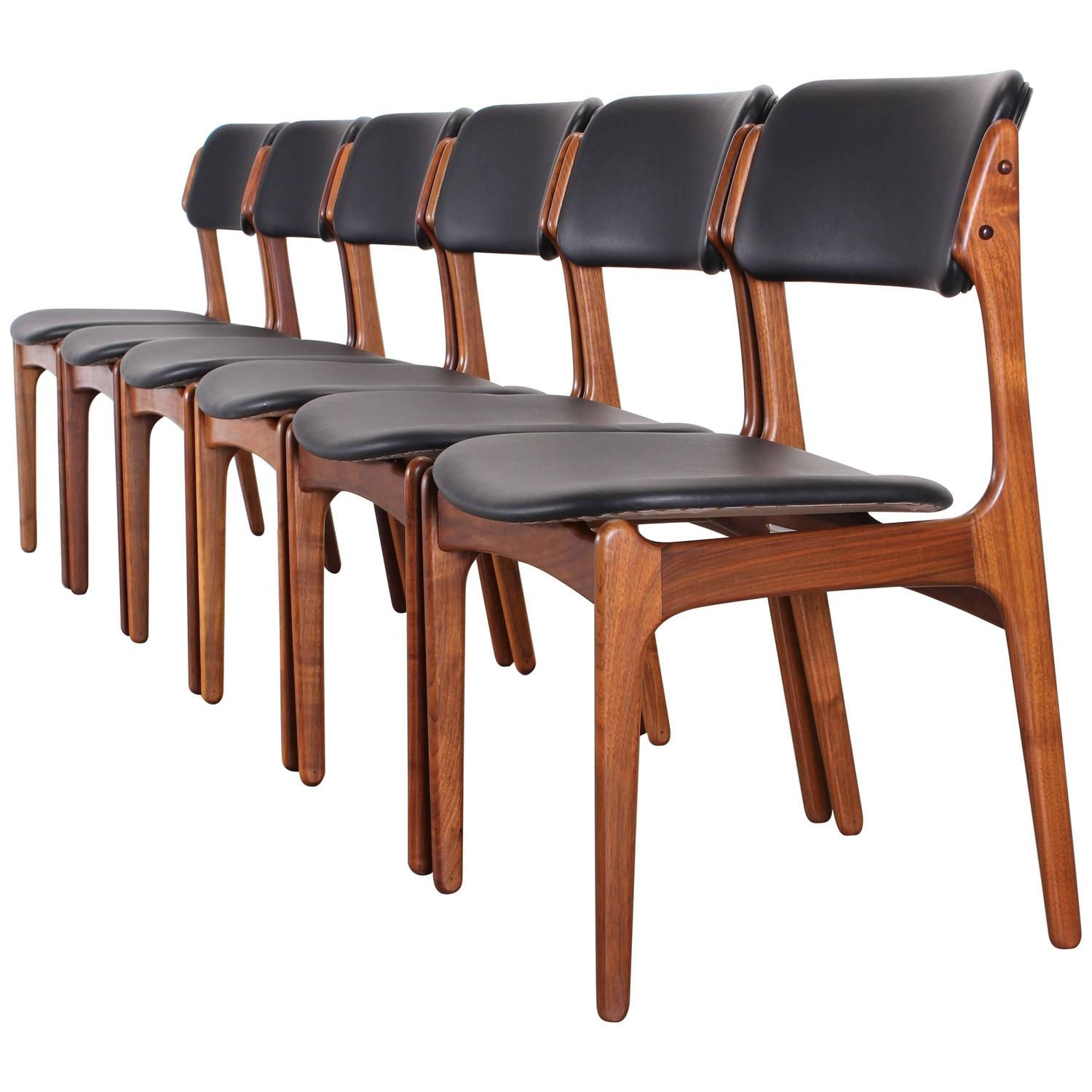 Best Set Of Six Dining Chairs Model 49 By Erik Buch For Oddense 400 x 300