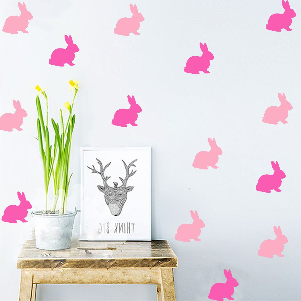 Nordic style cartoon rabbit wall sticker home decor cute animal