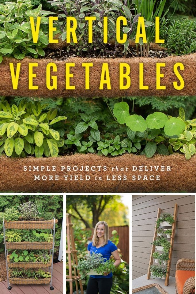 Clever Vertical Herb Gardens That Will Grow a LOT of Herbs in a Small Space is part of Vertical herb gardens, Outdoor herb garden, Vertical herb garden, Vertical vegetable garden, Herb garden, Vertical garden diy - These vertical herb gardens make the most of small spaces, in the most stylish way! 3 simple DIY projects that prove you can grow an herb garden anywhere