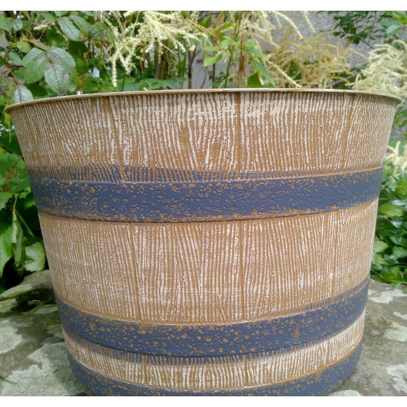 Garden Barrel Planter 4 Pack Basket Outdoor Flowers Plants Patio Pot Decoration