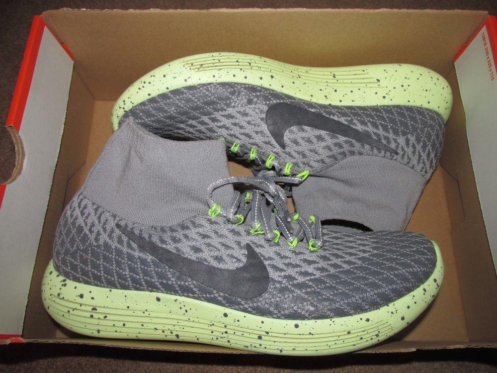 99866d55ab0f Nike Lunarepic Flyknit Shield Womens Running Shoes 10 Wolf Grey Black  849665 002  Nike  RunningCrossTraining